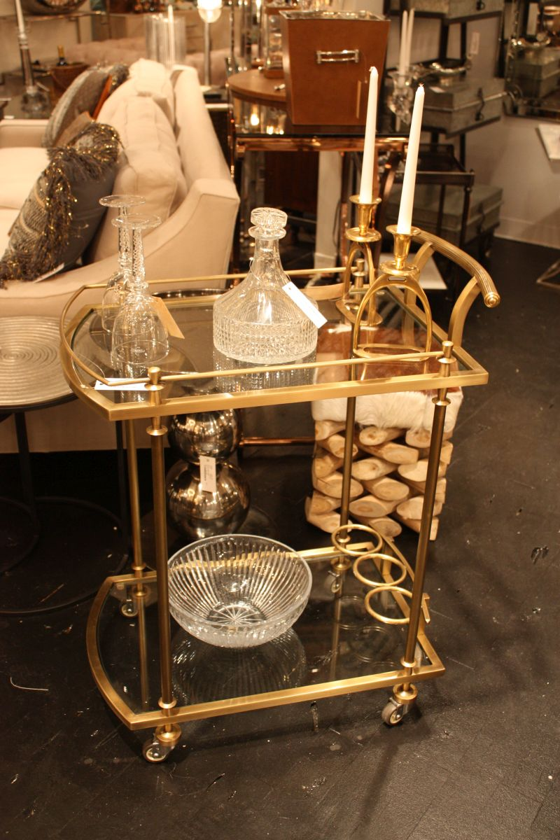 gold bar cart glamorous bar carts evoke the past while staying modern 31166