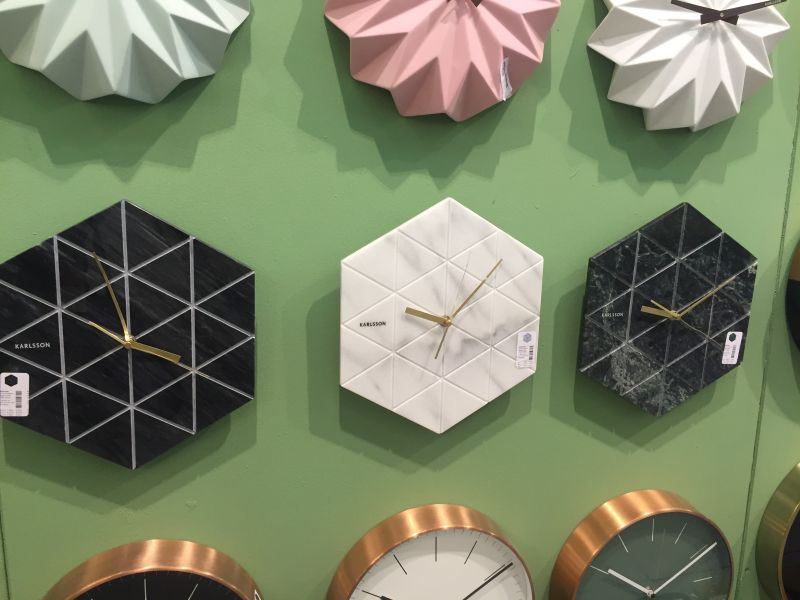 Marble style wall clocks from karlsson