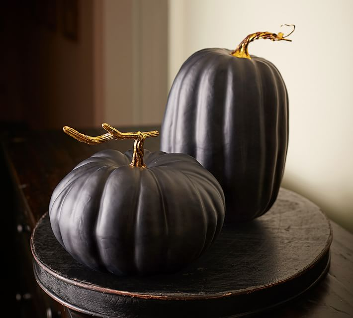 Matte black pumpkins