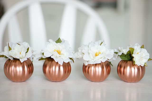 Mini copper pumpkin