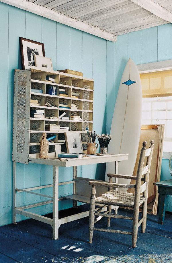 Nautical inspired office
