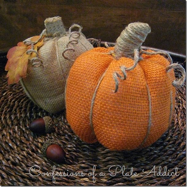 No sewing burlap pumpkins