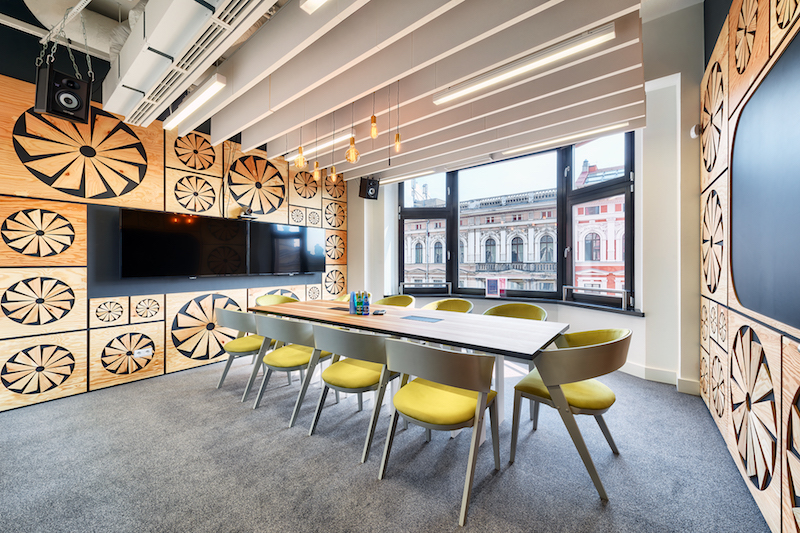 Opera Office Meeting Room With Carved Wall Panels