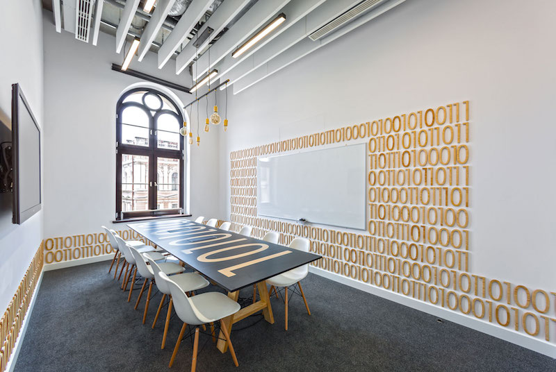 Opera office meeting room with it decor