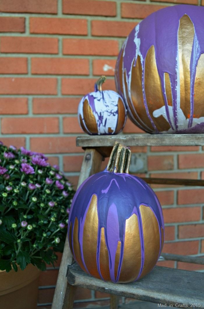 Paint Drip Blue Pumpkin