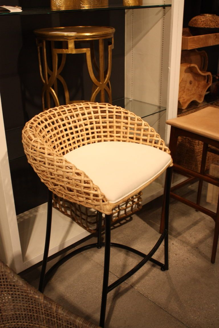 Palecek Wood Grid Pattern Chair