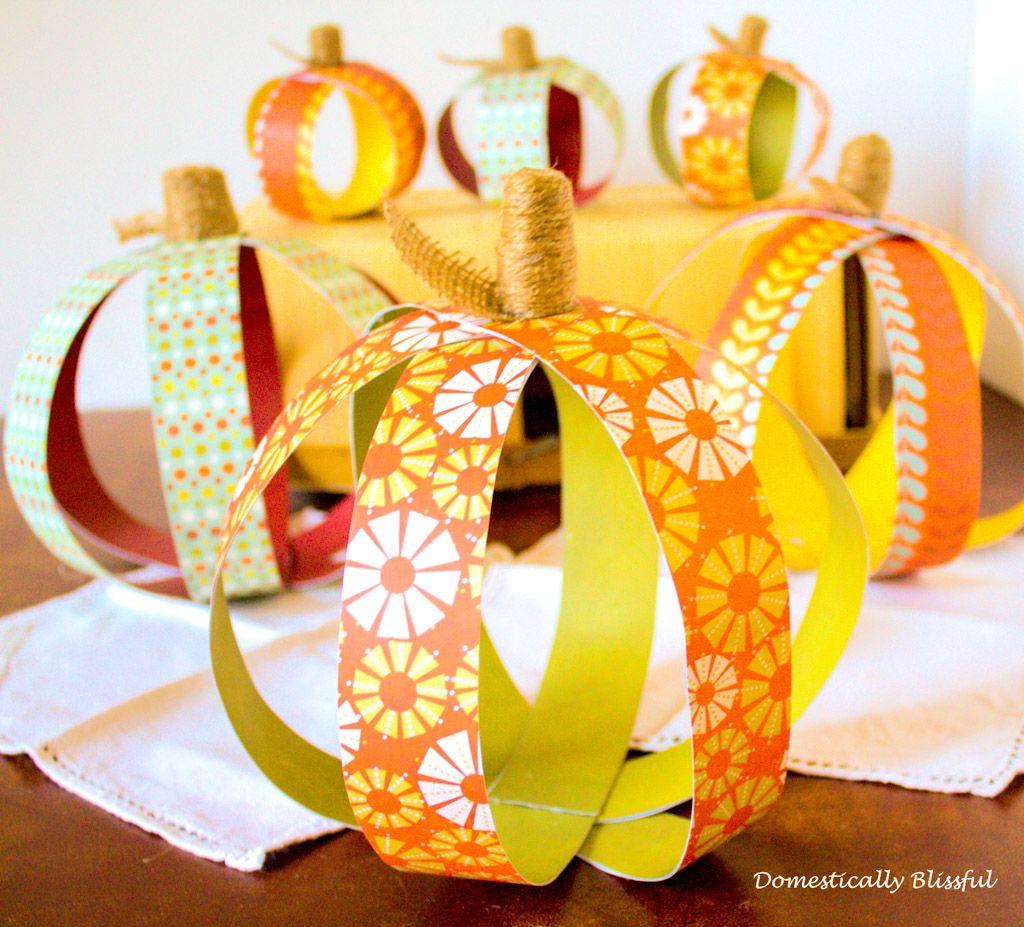 Paper pumpkin DIY