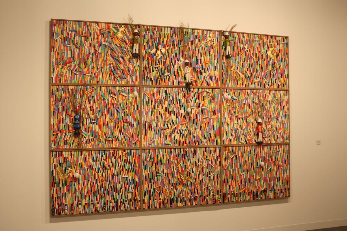 Pascale Marthine Tayou Chalk wall piece