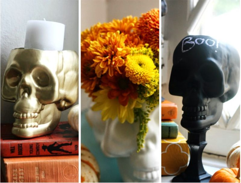 Plastic skull decor