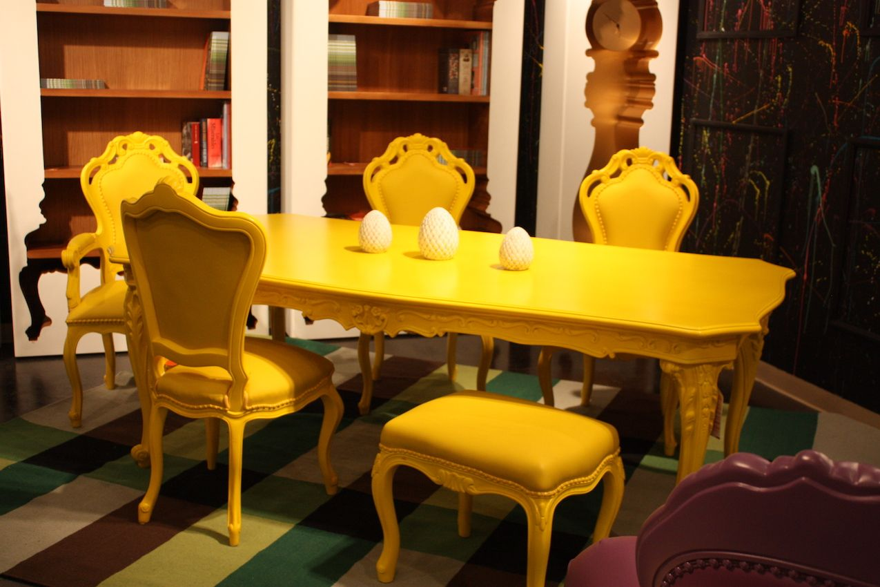 Polart yellow dining chairs