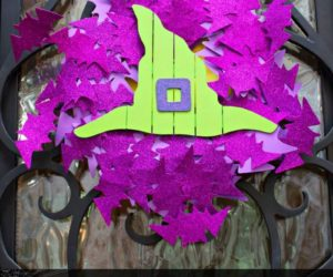 Halloween Front Door Bat Wreath