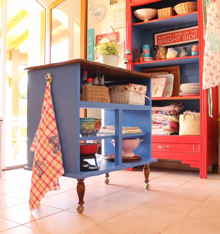 Repurposed Dresser Kitchen Island
