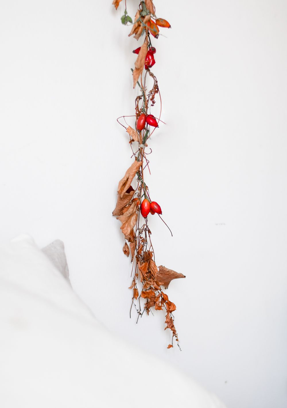 Seasonal Garland For Halloween Above Bed