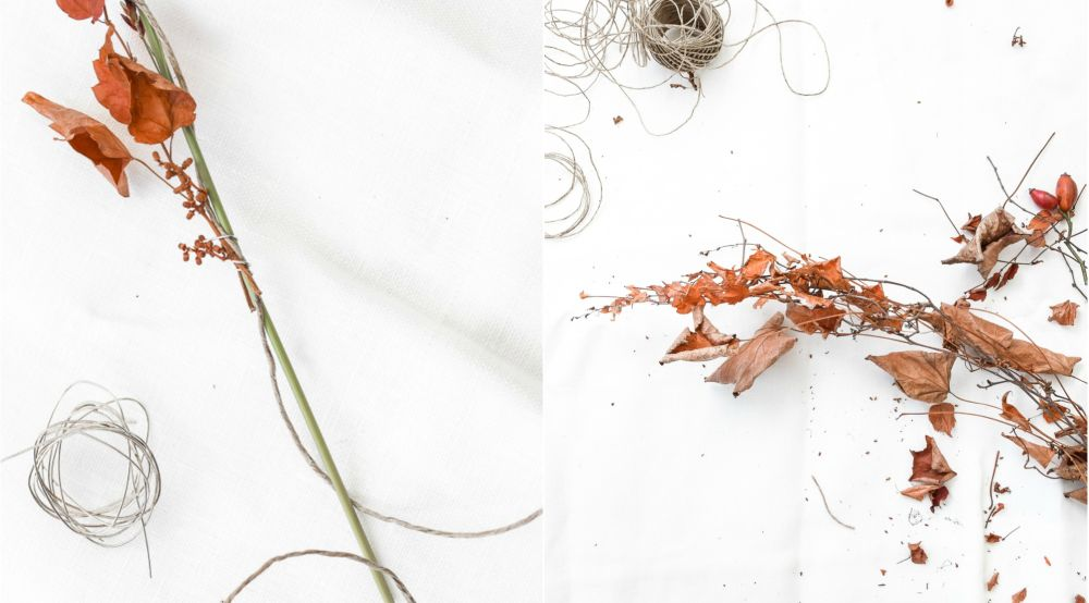 万圣节绳子的季节性花环