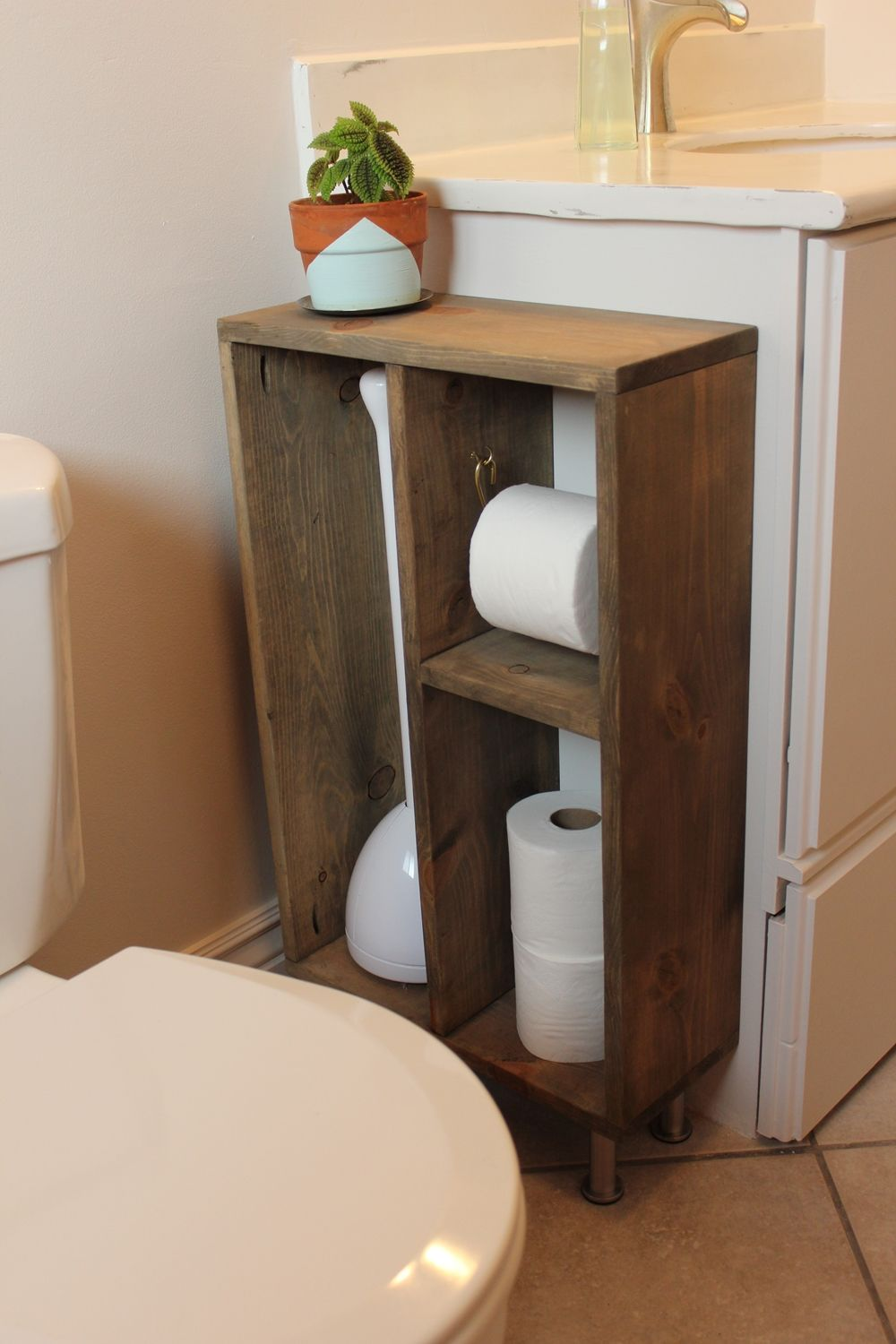 Diy bathroom shelves to increase your storage space Bathroom vanity cabinet storage