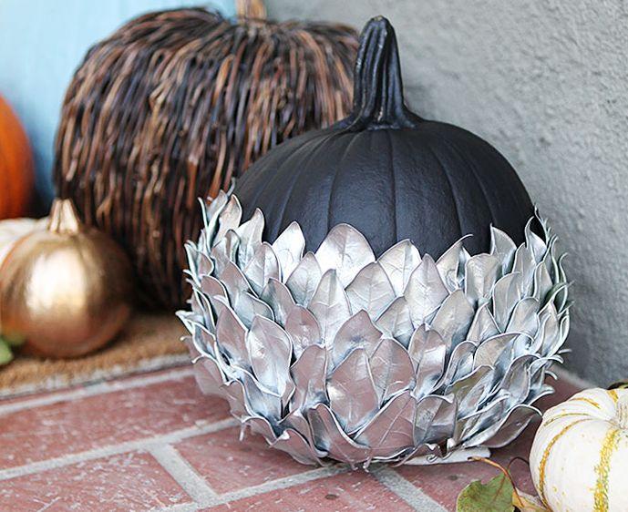 Silver glamorous pumpkin