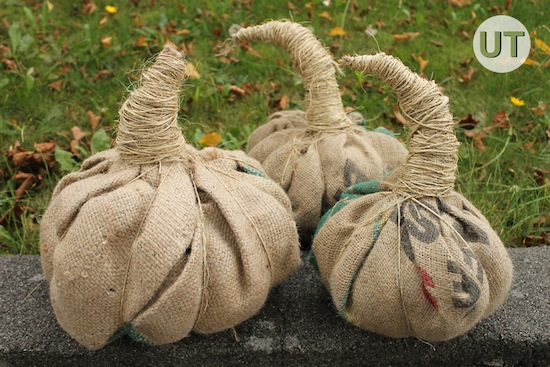 Simple Burlap pumpkin