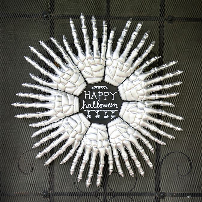 Skeleton hands wreath