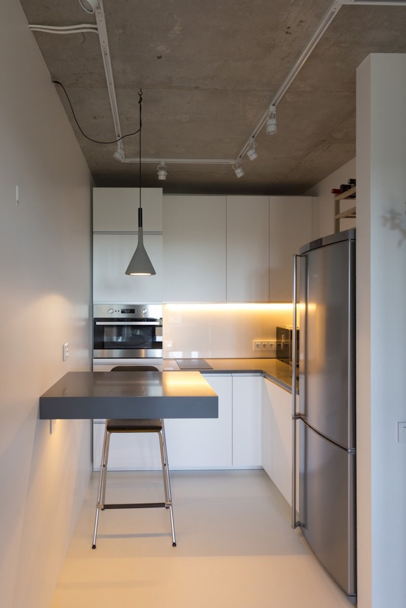 Small apartment in Moscow with corner kitchen