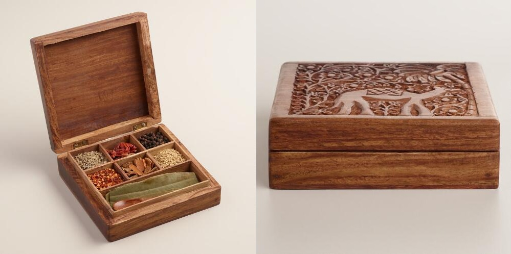 Spices wood box