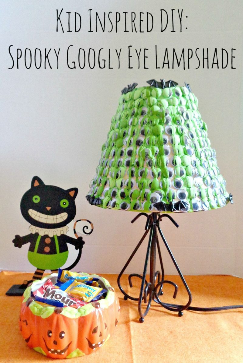 Kids Inspired DIY: Spooky Googly Eye Lampshade