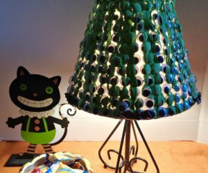 Kids Inspired DIY: Spooky Googly Eye Lampshade