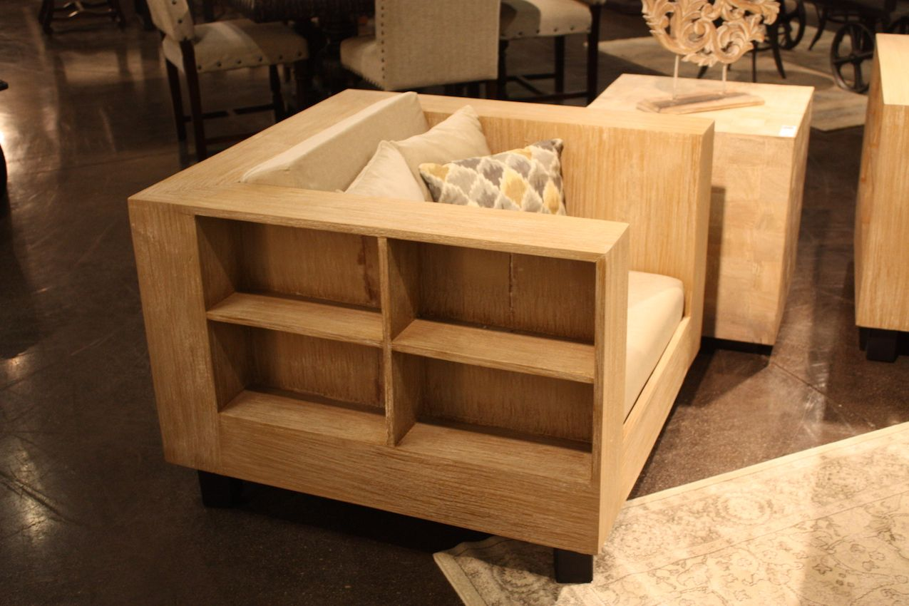 Squar shelf armchair design