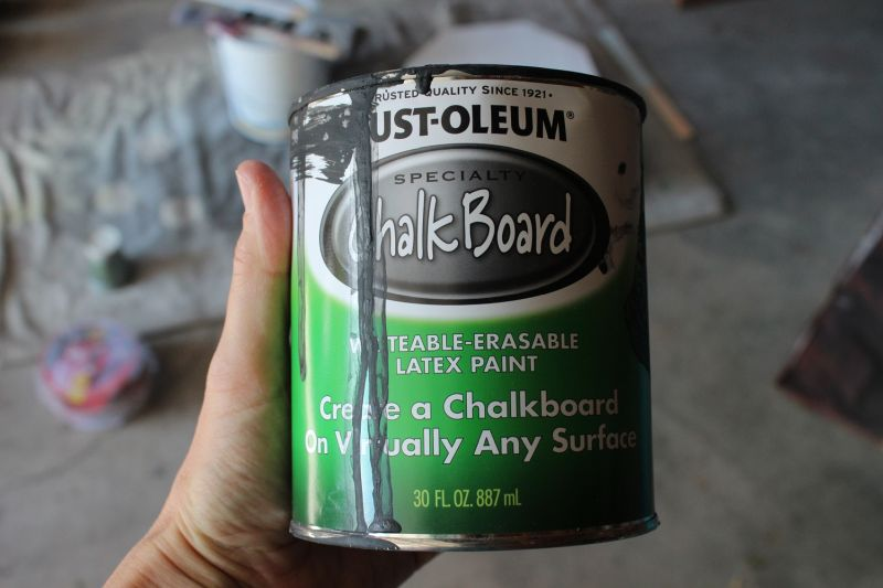 Stir your chalkboard paint