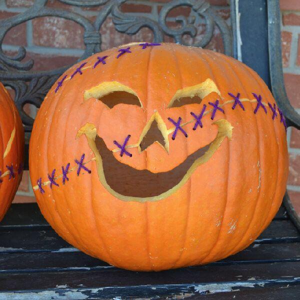 Stitched up jack o lantern