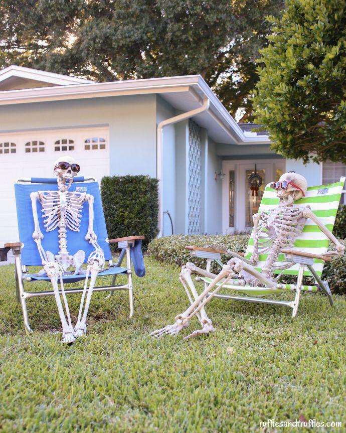 Sunbathing skeletons