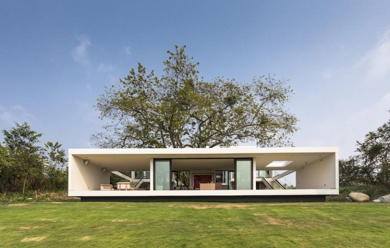 Eco friendly house follows the slope to capture the views for Eco friendly beach house designs