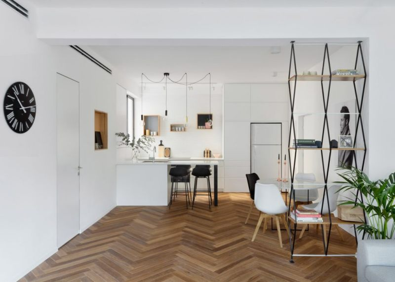 Tel Aviv apartment renovation social area floors