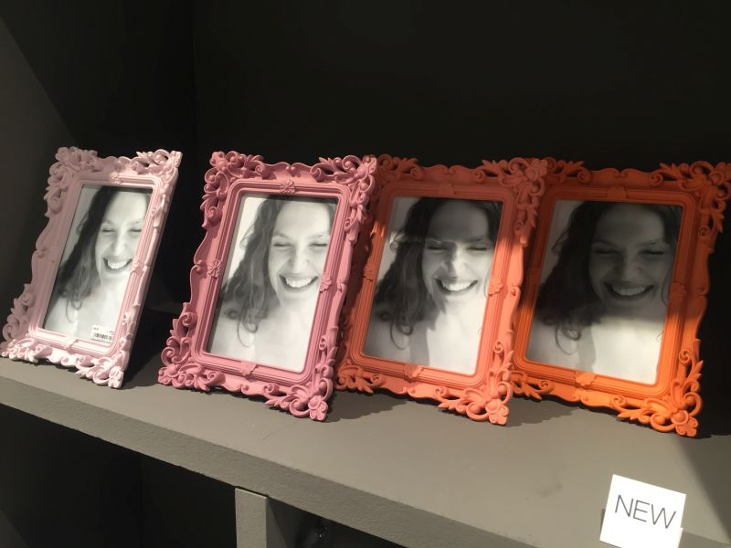 Traditonal vintage style picture frames in bold colors