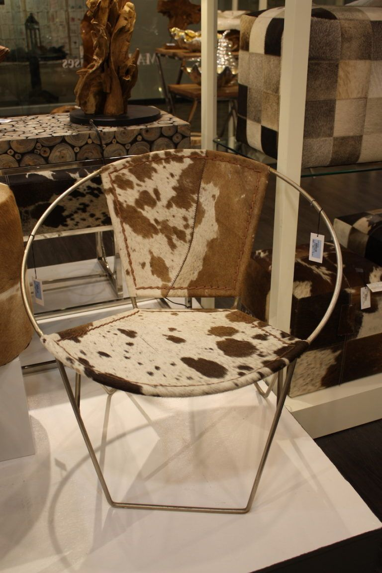 UMA hair cowhide round chair