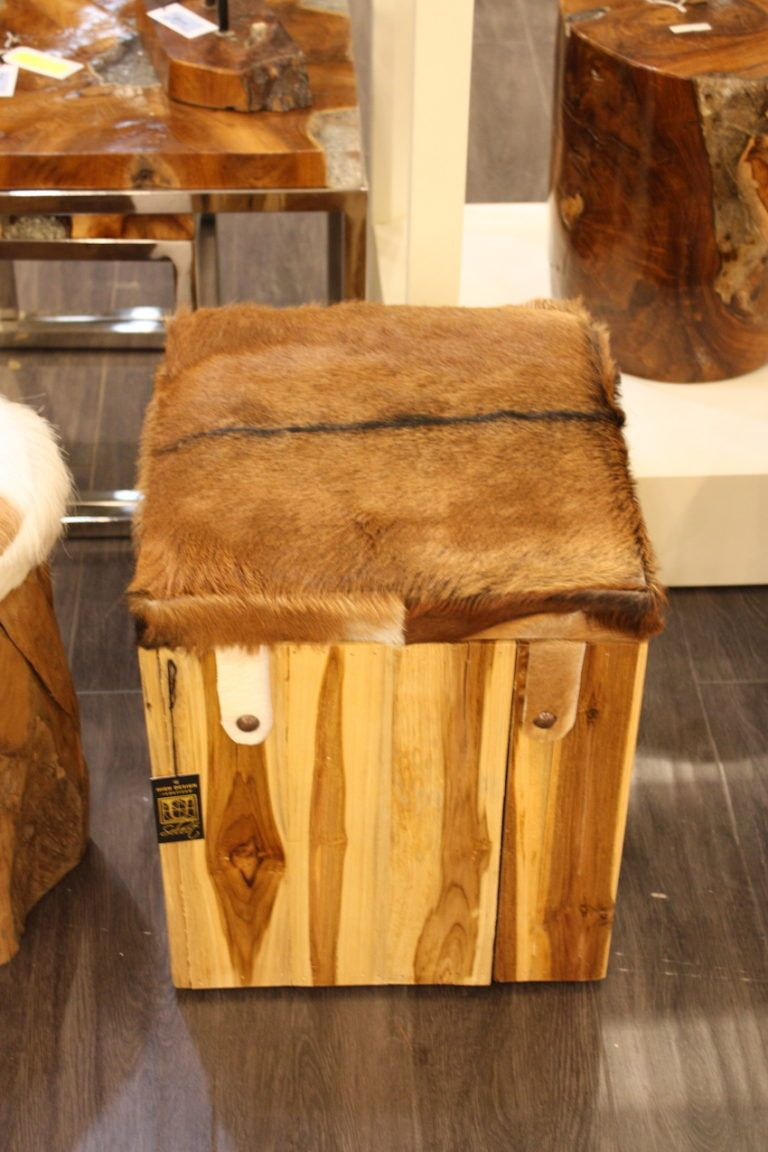 UMA hair on hide top stool