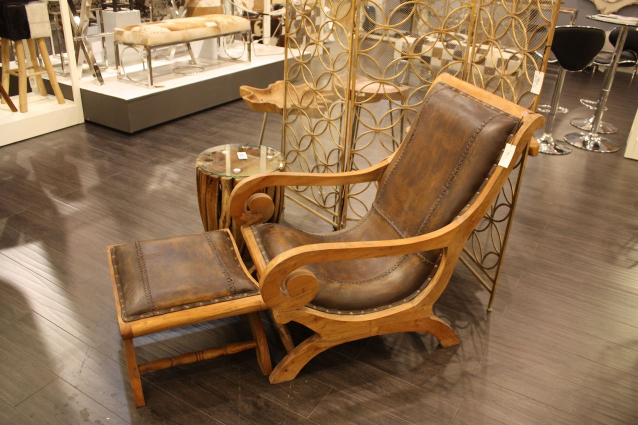Uma Leather Chair And Ottoman