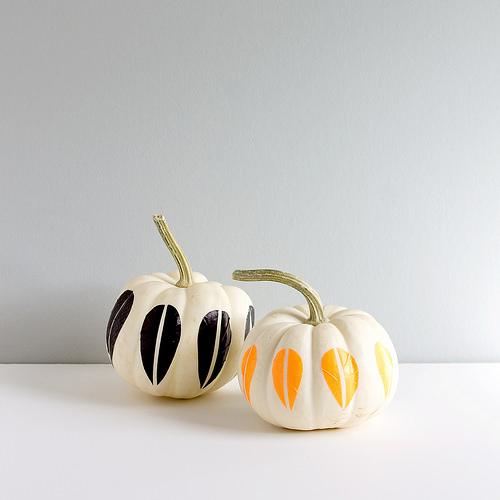 Washi tape Pumpkin decor