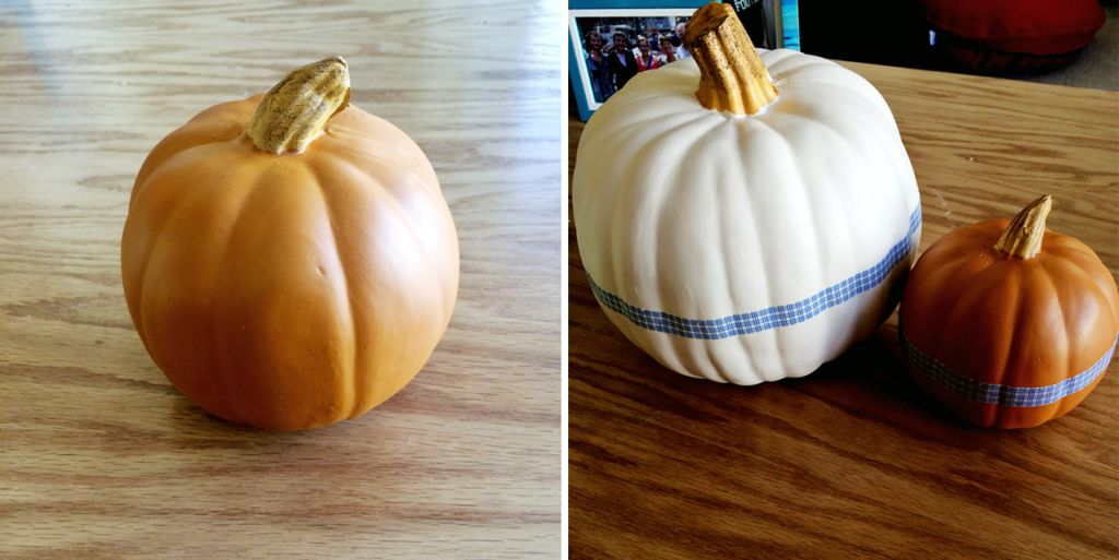 Washi tape pumpkin project