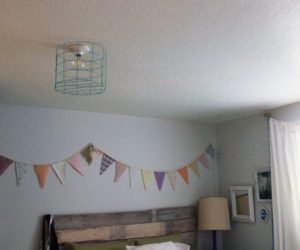 DIY Wire Cage Light Fixture