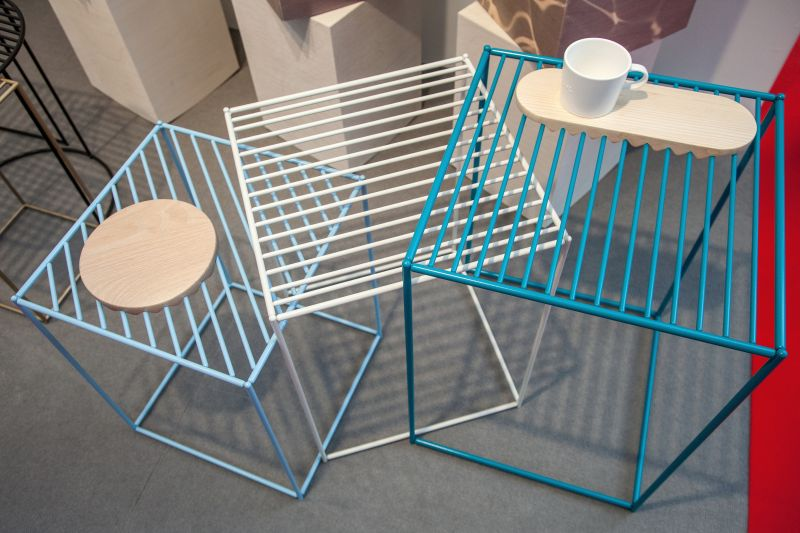 wire-furniture-with-a-wood-tray-special-designed
