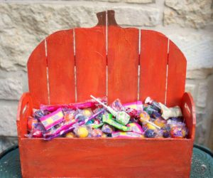 Make a Wood Pumpkin Basket for Fall