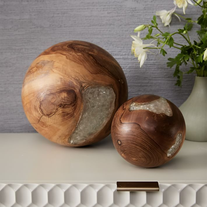 Wood and marble combination accessories