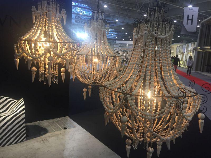 Wood beads chandelier Marijke Van Nunen