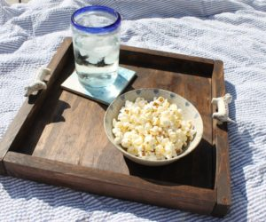 Wooden Tray Using Drawer Knob Handles