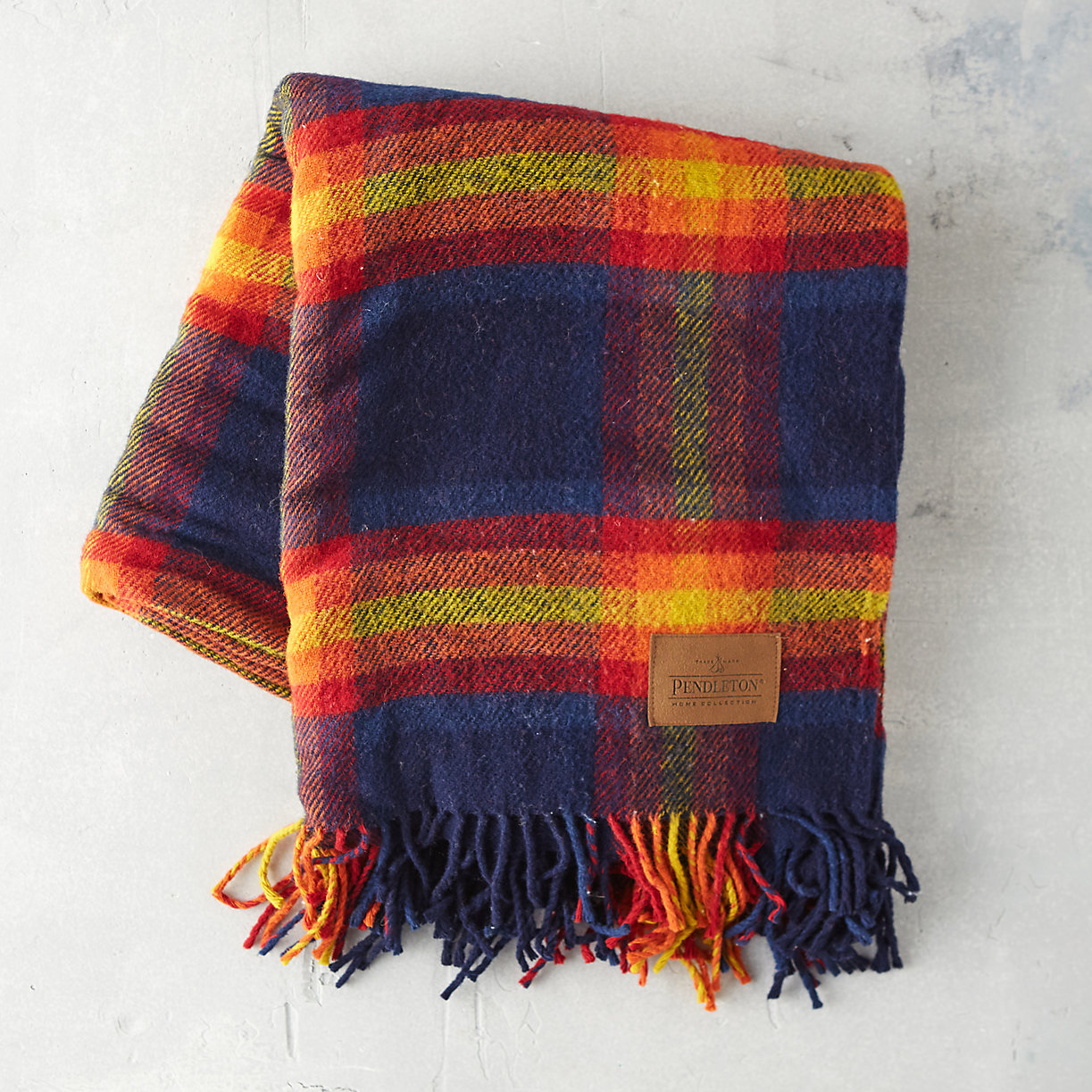 Wool plaid blanket