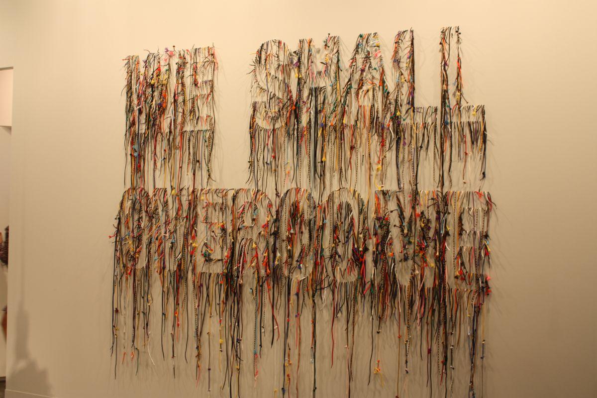 Word art wall