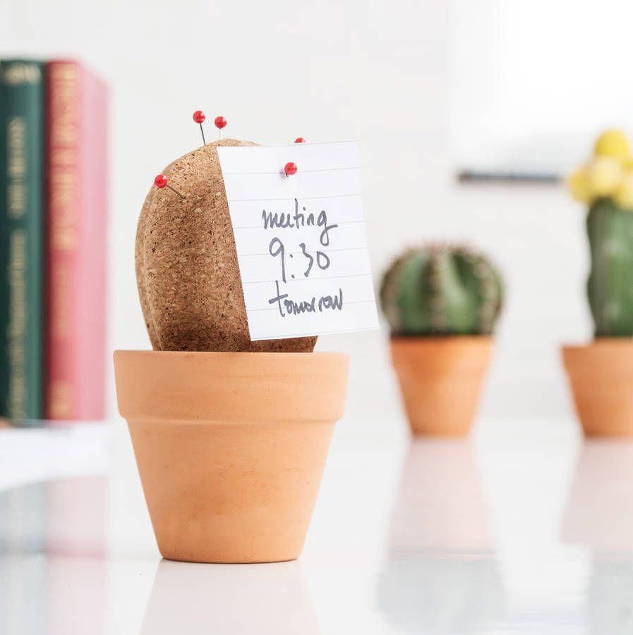 cork cactus desk