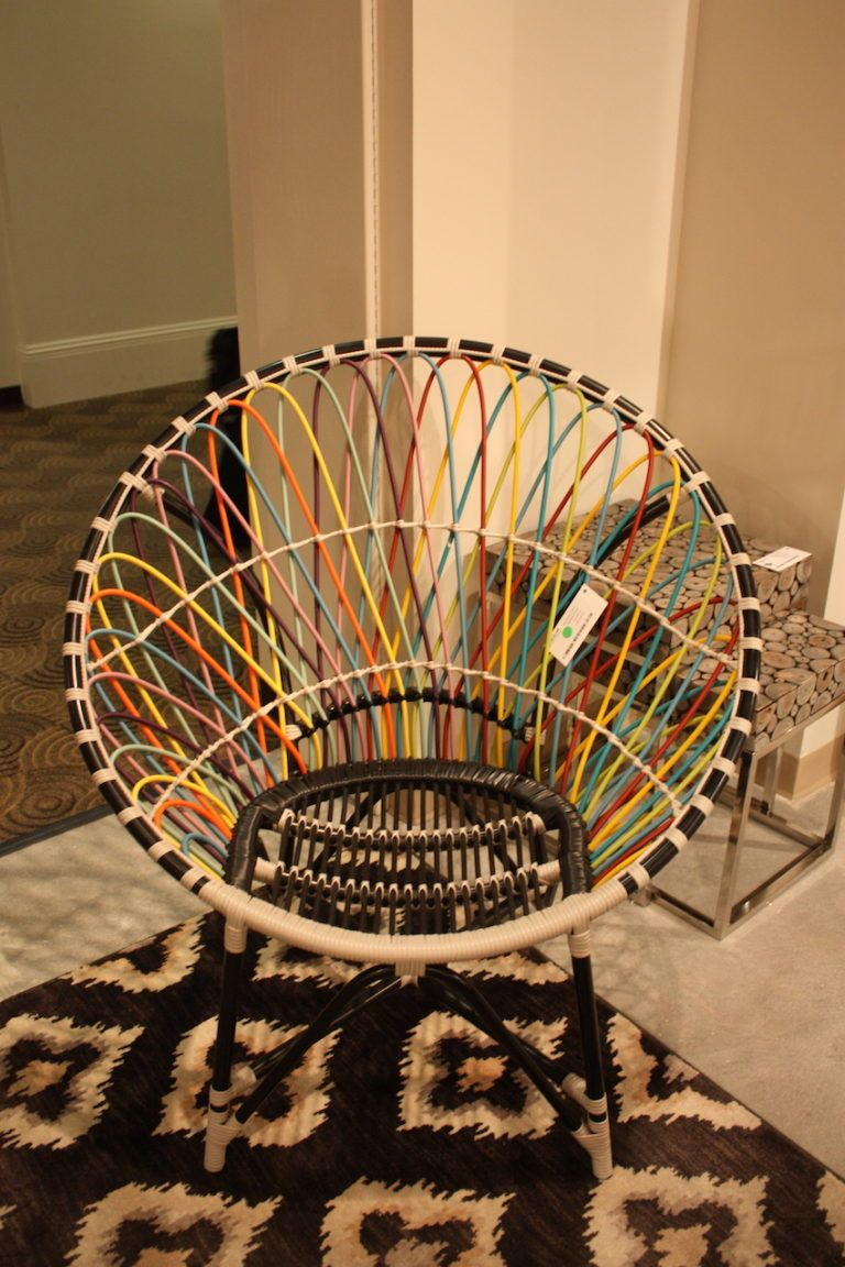 jeffa colored cord round chair