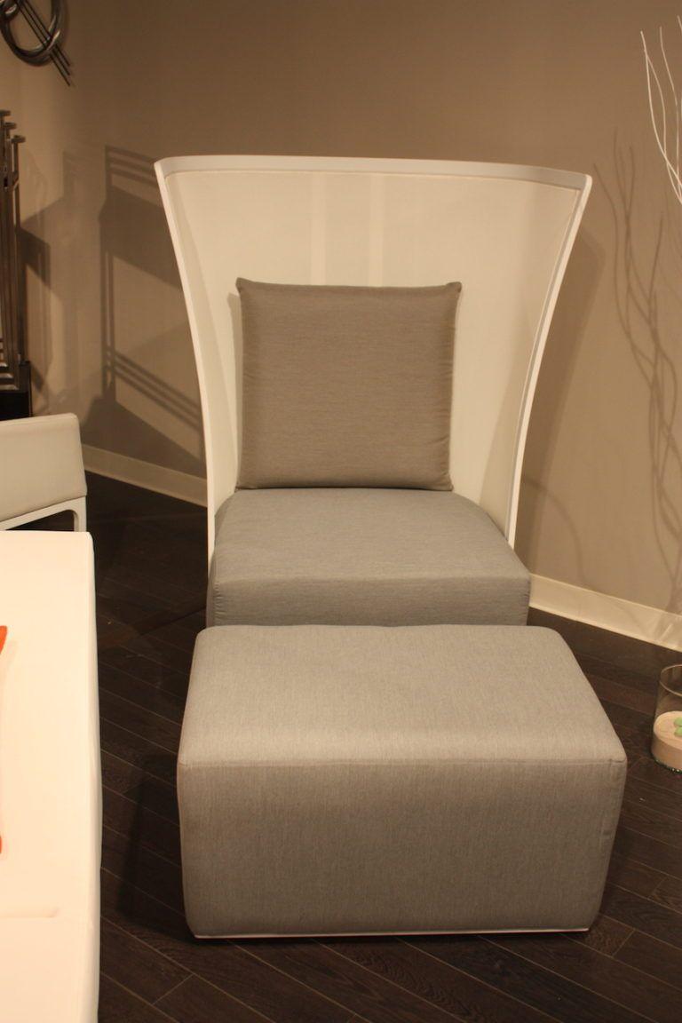 kube import sleek outdoor tall chair