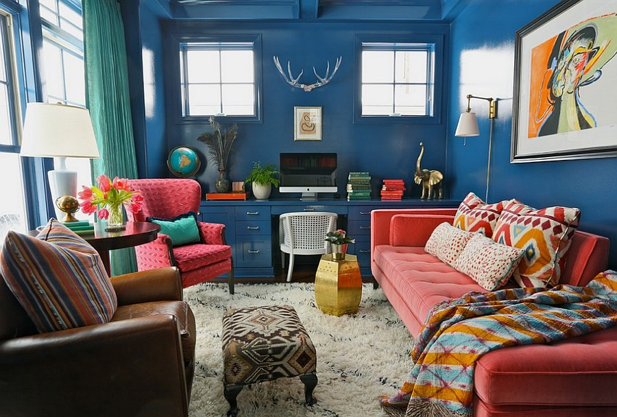 Colorful Home Office home office decor ideas to revamp and rejuvenate your workspace